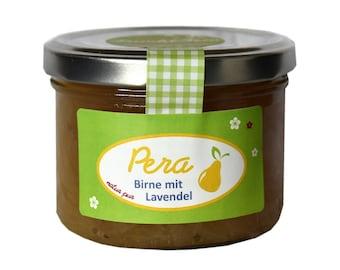 1,96EUR/100g Marmelade Birne mit Lavendel Pera