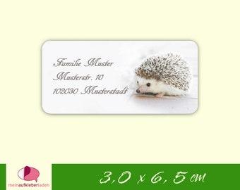 24 Address Stickers | Hedgehog
