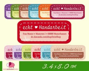 28 DIY Address Stickers | genuine handmade - customizable with address, handmade labels