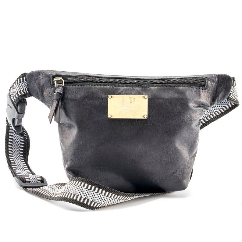 Donovan soft leather Belly Bag black A.P belt bag