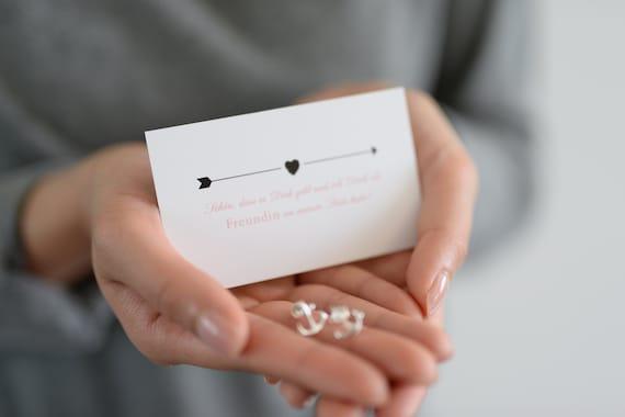 Gold oder Roségold 2x Freundschafts Geschenke Herz Armband in Silber