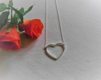 Trauzeugin Geschenk - Karte und Herz Kette in Silber plus Geschenkverpackung mit Thank You - Sticker