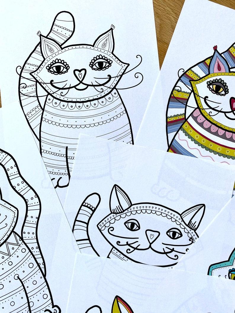 fensterbilder katzen malvorlagen 6 din a4 seiten bunte