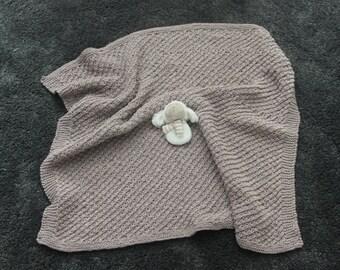 baby decke herz creme und grau baby decke f r baby dusche etsy. Black Bedroom Furniture Sets. Home Design Ideas