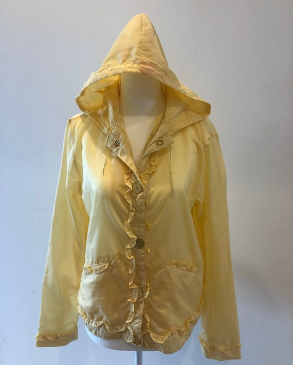 Chadwick's Nylon Yellow Rain Coat Windbreaker S