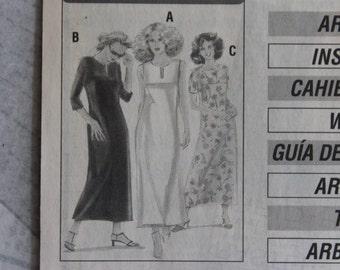 Vintage Sewing Pattern - New Fashion Style M 22914 Women's Dress Size 36-48 Multisize Cut Pattern Bows Women Retro Fashion Sewing Instructions