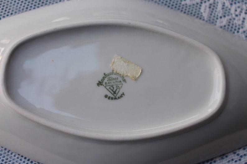 Confectionerplankenhammer Floss BAVARIA-GERMANY Rose Decor Porcelain Bowl Anbies Bowl White Bowl Brandporcelain Vintage Bowl