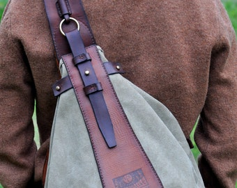 673ca148a3 Linen backpack