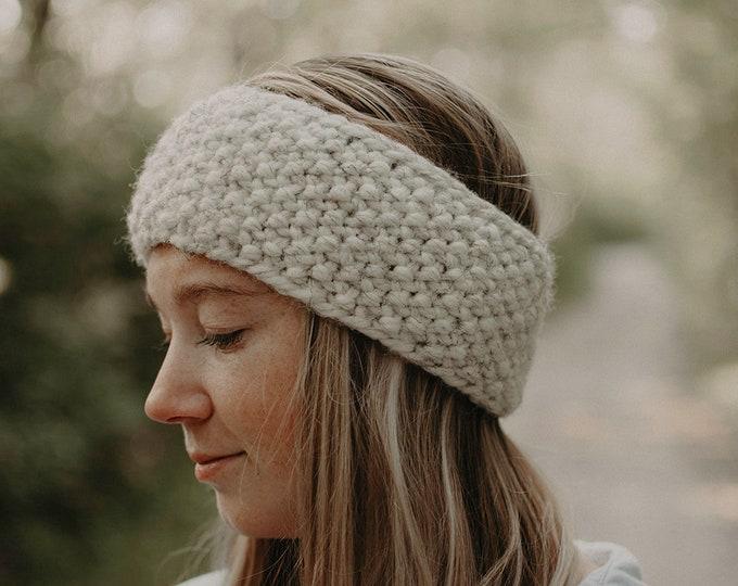 Chunky Knit Headband / Earwarmer - Oatmeal - Women's Accessories