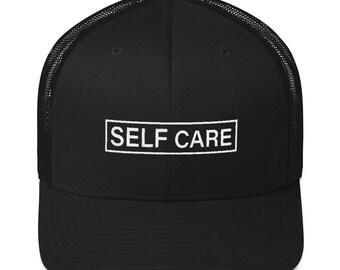 Self Care   SwiMMing hat   RIP MAC   4 colors  inspired Trucker snapback    Free Domestic Shipping! f2fd62ca9430