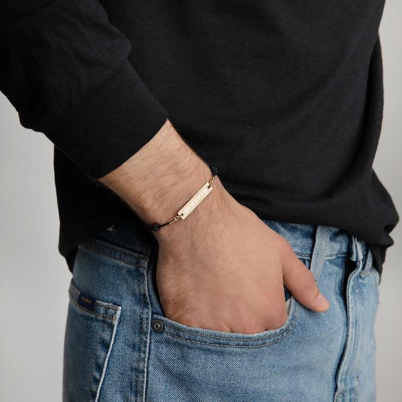 OFWGKTA Engraved Bar String Bracelet 4 color options image 0