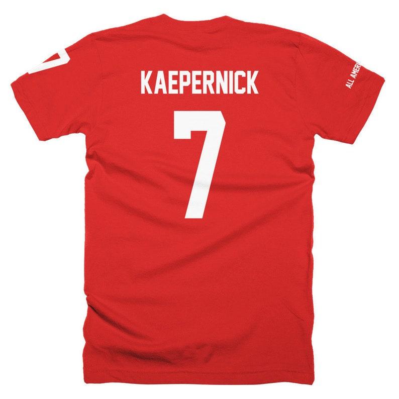 Colin Kaepernick 7 icon T-shirt Red