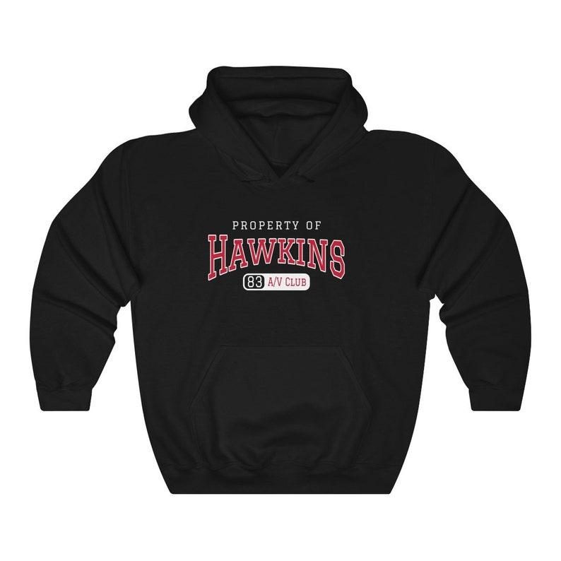 Hawkins Middle School A/V Club  stranger things inspired Black