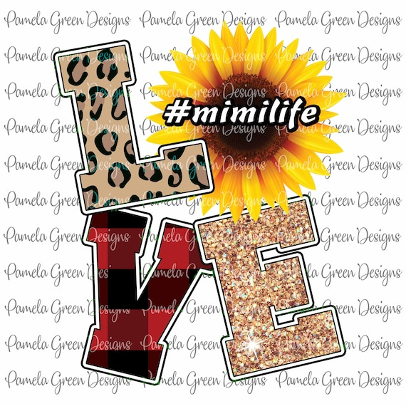 Grandma Sunflower Love Grandmother Design Sublimation Digital  Design Download Graphic PNG