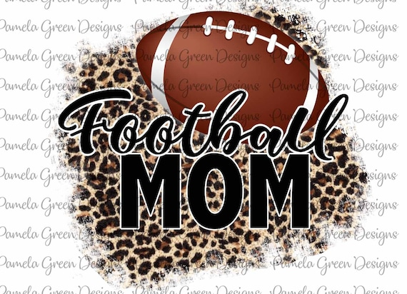 For the Love of the Cougars Football Sublimation Transfer Ready to Press Leopard Shirt Design