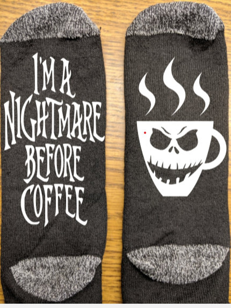 3 designs christmas gift mom I/'m a nightmare before coffee funny socks funny gift coffee lover gift dad husband wife stocking stuffer