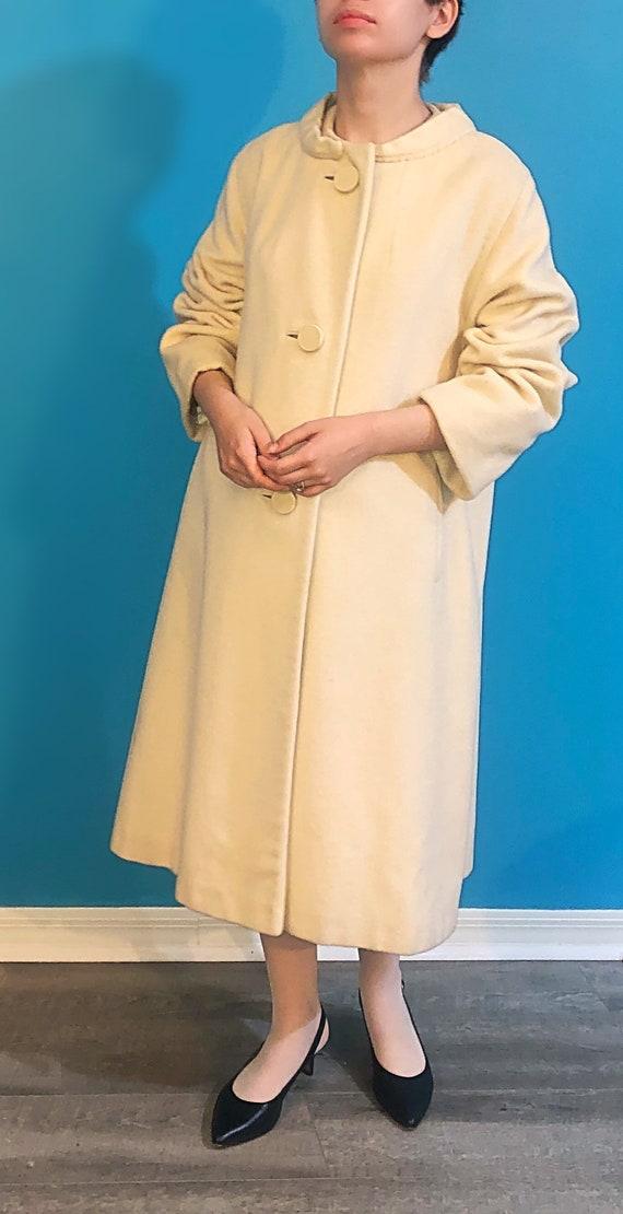 White 50s swing coat