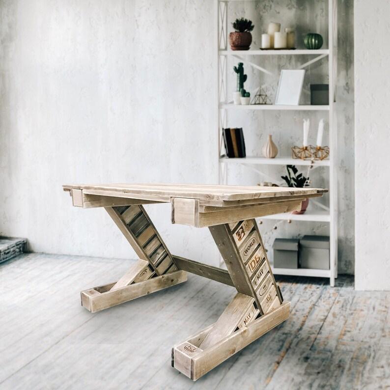 Pallet furniture: Desk KONTIKI image 0