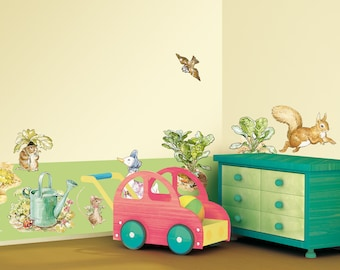 Beatrix Potter Sticker for wall  for nursery, living room, bedroom, baby room - wall decor Modern - 2x 70x50cm wall stickers deco set
