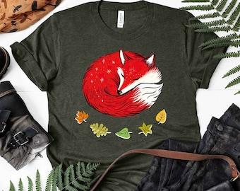 Fox Shirt, Women Men, Fox Lover Gift, Cute Fox T-shirt, Animal Lover Tshirt, Fox Gifts for Him, Her, Birthday, Tee, Clothing, Furry Fandom.