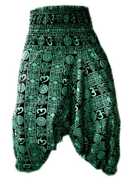 HAREM PANTS YOGA MEN WOMEN 100/% COTTON INDIAN BAGGY GYPSY NEW OM PRINT TROUSERS