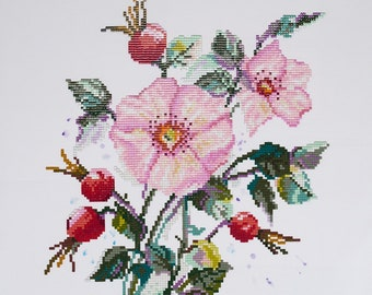 New Unopened Diamond Embroidery Kit Flowers Rosehip Russian Manufacture Gift Idea