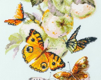 Magic Needle Cross Stitch Kit Blooming Apple Tree