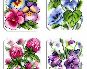 Modern Cross Stitch Embroidery Kit Flower Symphony Pattern, Gift Idea Russian Manufacture MP Studio,  Gift
