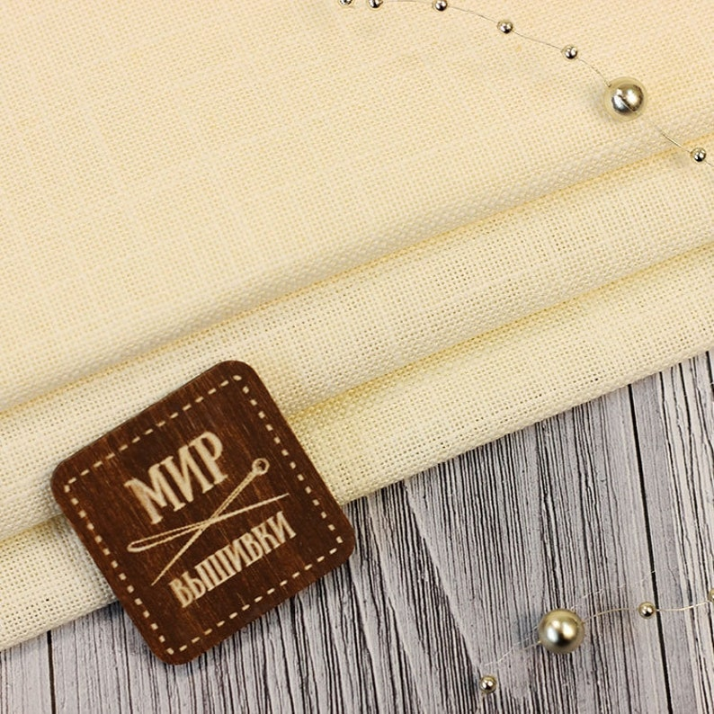 Cream Soft Fabric 28 ct Cross Stitch Fabric Counted Cross Stitch Ivory Beige Fabric Ubelhor Austria Eva Embroidery Fabric