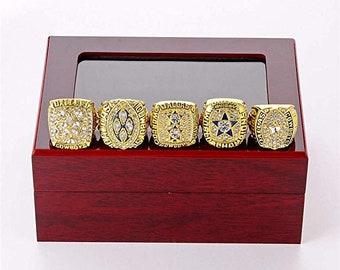 1397fca33 Dallas Cowboys Super Bowl Champion Ring Set, NFL Super Bowl Fan Ring Dallas  Cowboys Set 1971 1977 Championship Ring