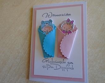 Glückwunschkarte Zur Geburt Taufe Mädchen Babykarte Etsy