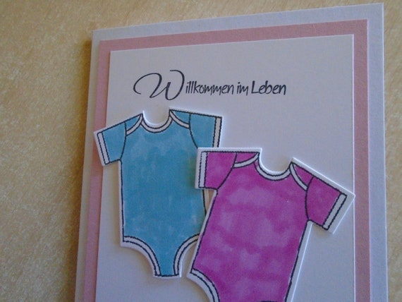 Junge Mädchen,Grußkarte nach Wahl,Karte Glückwunschkarte zur Geburt Drillinge