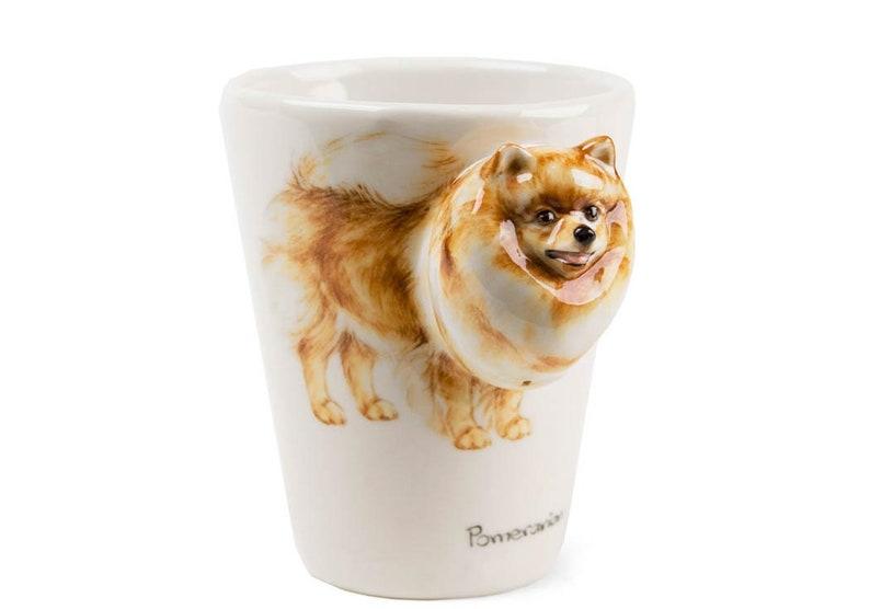 4016128c357 Pomeranian Handmade Coffee Mug 8oz Brown (10cm x 8cm)