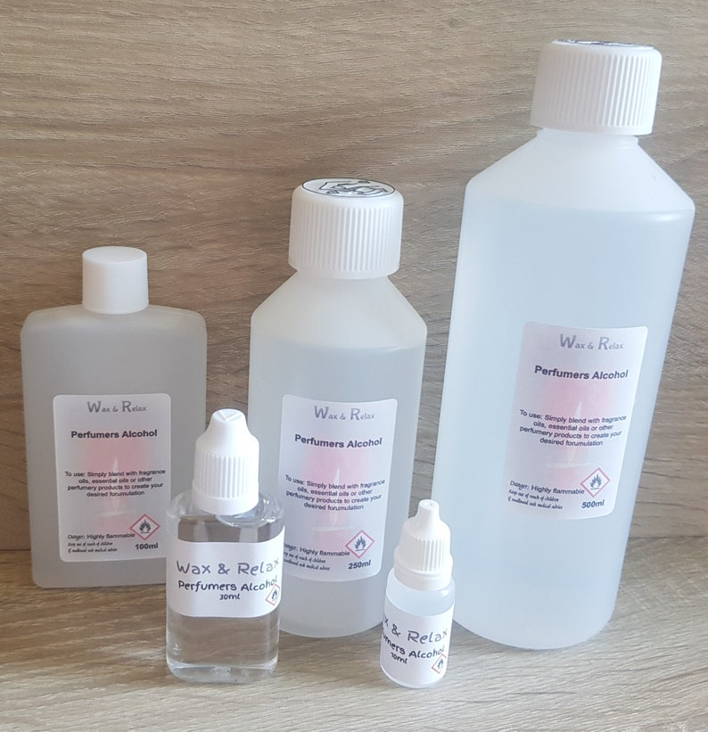 Perfumers Alcohol - Make your own perfumes, aftershaves, room sprays &  diffusers VARIOUS SIZES