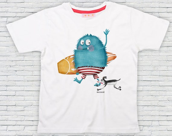 Kid's Monster T-shirt design Monica Carter Momo Shop