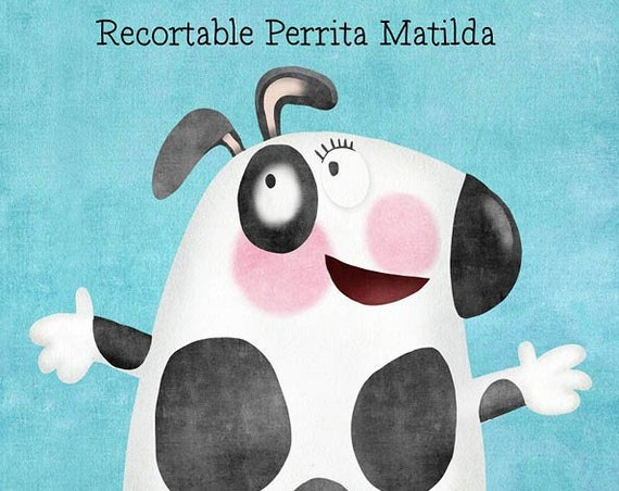 """Doggy Matilda"" cutouts. Design by Mónica Carretero."