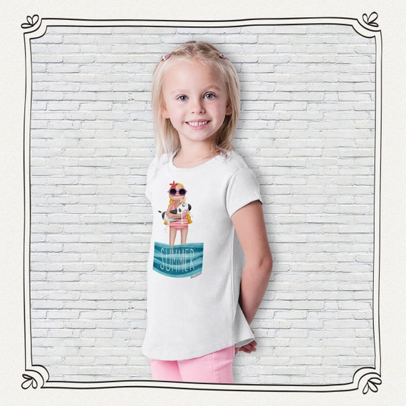 Girl T-shirt summer design Monica Carter Momo Shop