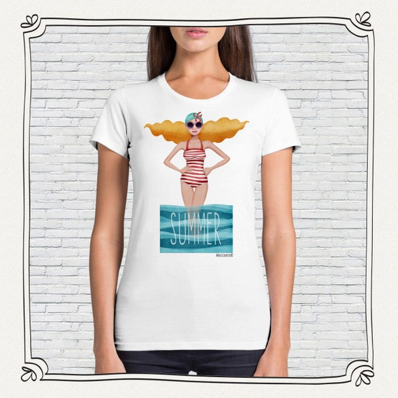 T-shirt Classic woman summer • Design Monica Carter for Momo Shop