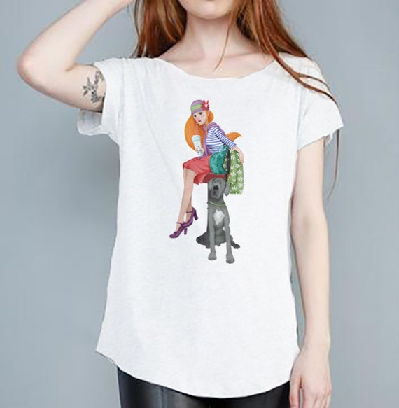 T-shirt woman dog design Monica Carter Momo Shop