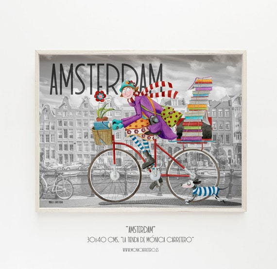 Art Print Amsterdam. Design by Mónica Carretero.