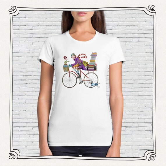 T-shirt cut classic woman bicycle • Design Monica Carter for Momo Shop