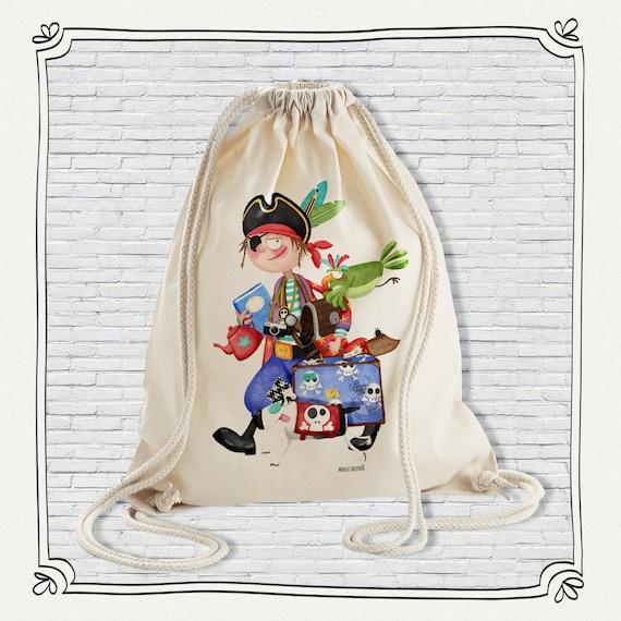 Backpack Organic Cotton Child Pirate
