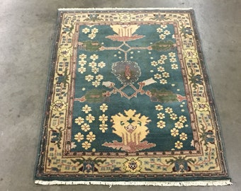 8x10 Art Craft Style Area Rug Hand Knotted Wool Carpet Etsy