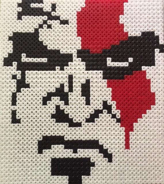 Kratos Face Pixel Art