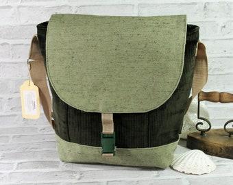 Messenger courier bag shoulder bag man corduroy canvas cotton briefcase backpack canvas bag