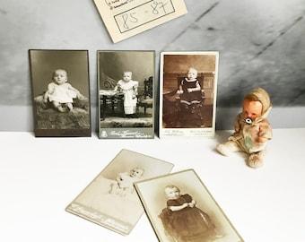 Cabinet Photo Vintage original Baby child 001
