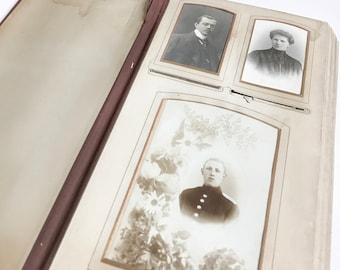 Photo album vintage cabinet photographs Art Nouveau