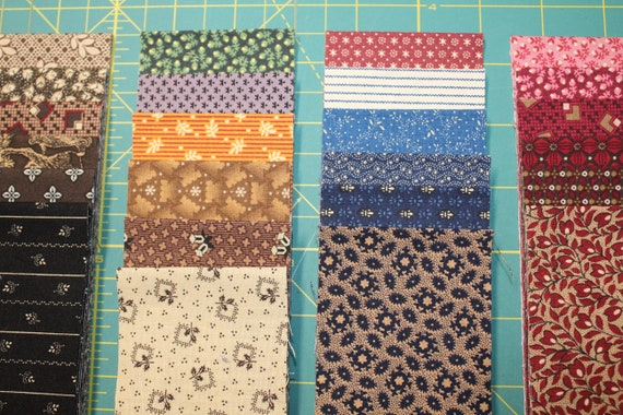 "40 ASSORTED REPRODUCTION 5/"" SQUARES COTTON CHARM PACK QUILT FABRIC//MARCUS"