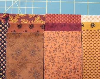 """33 Jelly Roll MARMALADE Reproduction 2.5x44"""" Strips 100% Cotton Quilt Fabric By Kathy Hall For Andover Fabrics"""
