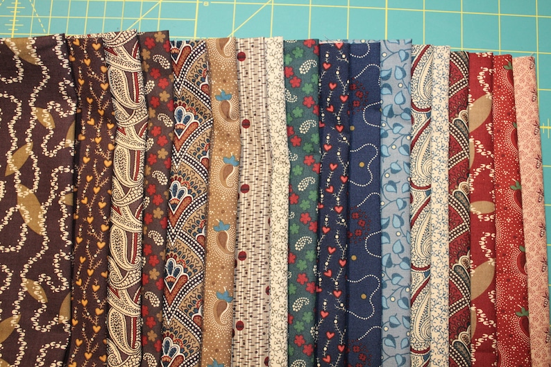 18 CIVIL WAR JOURNALS 100/% Cotton Reproduction Quilt Fabric Fat Quarters 18 x 22 By Judie Rothermel For Marcus Fabrics